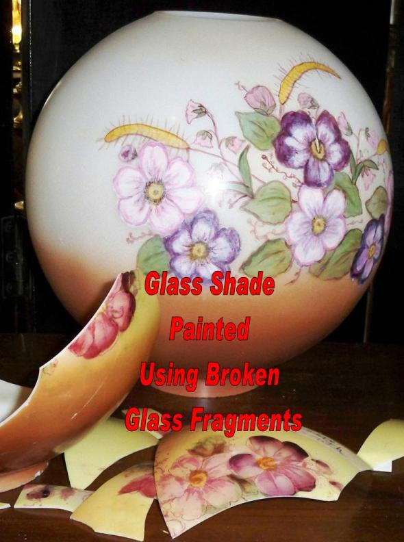 Replacement glass lamp shades hand painting to match your base original and copy hurricane shades glass shade replacement and hand painting aloadofball Images