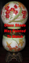 Glass shade replacement and hand painting