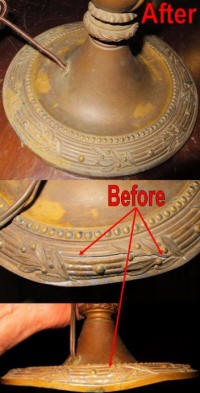 Lamp base repair