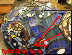 Tiffany shade repair