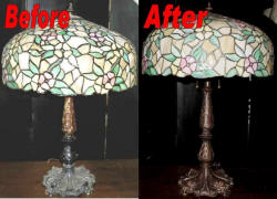Lamp repair - Tiffany lamp repair
