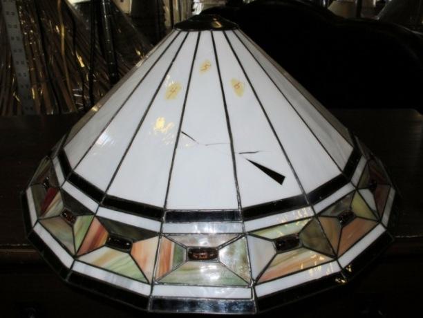 Tiffany lamp repair and tiffany shade repair mission shade typical damage aloadofball Images