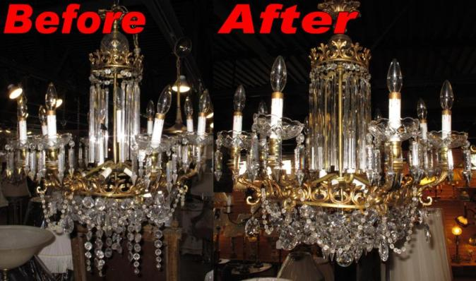 Lighting and chandelier repair by lamp shade outlet crystal chandelier repair aloadofball Image collections