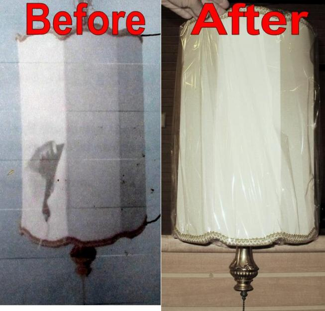 Repair Lamp Shades, Recover or Duplicate Your Old Lamp Shade