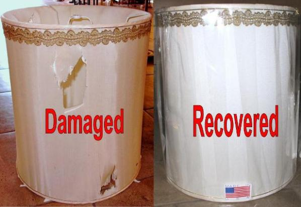 pagoda lamp shade recovered repair recover stiffel lamp shade - How To Fix A Lamp