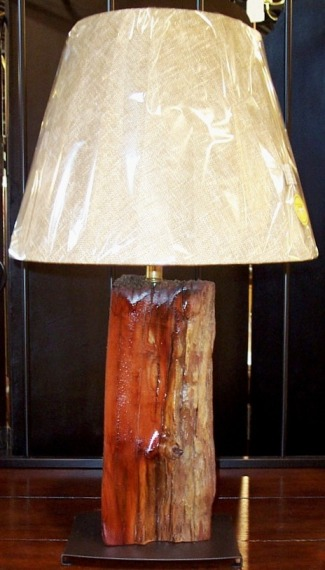 Wood Lamp Made Of Vintage Cedar Fence Post