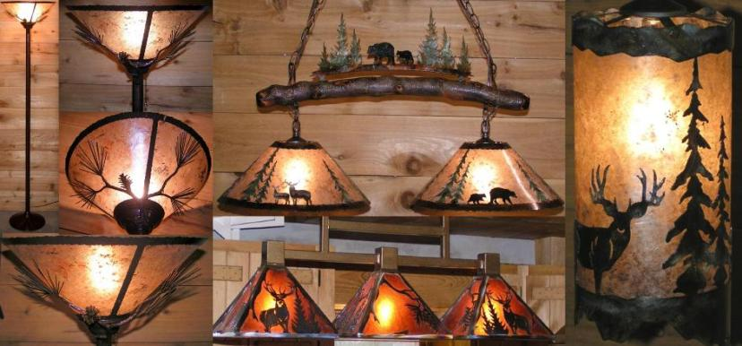 Rustic Lighting Country Mountain Lodge Mica Designs : rustic mica pendant light 01 from www.hoylelamps.com size 828 x 386 jpeg 59kB