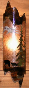 Rustic lighting mica sconce