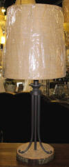 Country lamp - log cabin lamp style