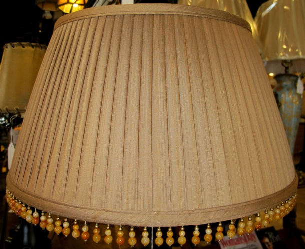 Victorian lamp shades by lamp shade outlet 1 available sale lamp shade pleated and beaded dusty rust color aloadofball Choice Image