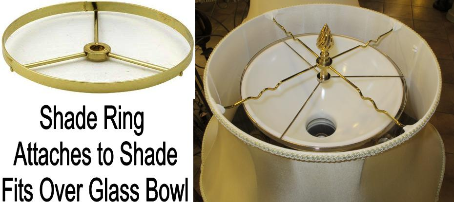 White bowl refelctor shades for torchiere lamps shade ring attaches to shade fits over glass bowl aloadofball Gallery