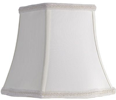 Square lamp shades with cubed or slanted shapes square lamp shade cream mozeypictures Image collections