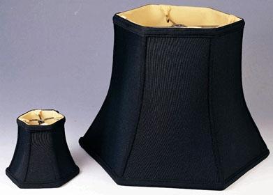 10x20x15 $129, Table Lamp Shade Black Hexagon Bell