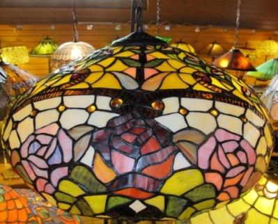tiffany chandelier roses design - Tiffany Chandelier