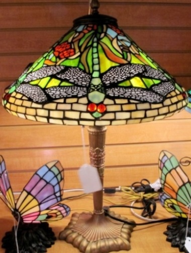 Tiffany table lamps and tiffany shades by lamp shade outlet tiffany lamp dragonfly shade aloadofball Images