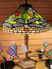 Tiffany lamp dragonfly shade