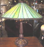Green mission Tiffany lamp