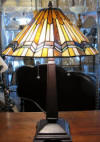 Arrowhead Tiffany table lamp