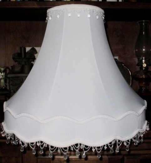 Victorian lamp shades by lamp shade outlet victorian lamp shade with clear beaded fringe top and bottom aloadofball Choice Image